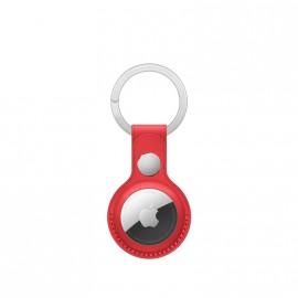 Apple AirTag Leather Key Ring - klíčenka (Červená)